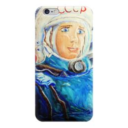 """Чехол для iPhone 6 """"Космос СССР"""" - ручная работа, детский рисунок, от детей, детская работа"""