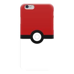 "Чехол для iPhone 6 ""Pokeball"" - nintendo, pokemon go, покемон го, покеболл"
