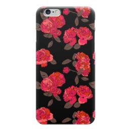 """Чехол для iPhone 6 глянцевый """"Ночной розарий """" - роза, цветок, подарок, девушке"""