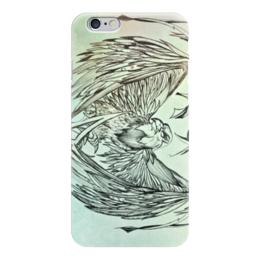 "Чехол для iPhone 6 глянцевый ""Сокол"" - птица, рисунок, сокол"