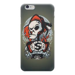 """Чехол для iPhone 6 """"Смерть арт"""" - skull, череп, death, смерть, смерть с косой"""