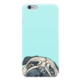 "Чехол для iPhone 6 ""мопс мопс мопс"" - собака, мопс"