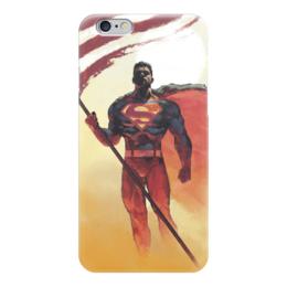 "Чехол для iPhone 6 ""Супермен (Superman)"" - комиксы, dc, dc comics, супс, супермэ"