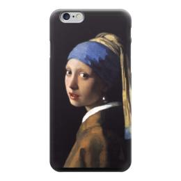 """Чехол для iPhone 6 """"Девушка с жемчужной серёжкой (Ян Вермеер)"""" - картина, портрет, вермеер"""