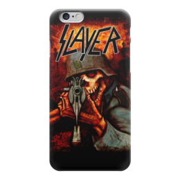 "Чехол для iPhone 6 глянцевый ""Slayer Band"" - рок музыка, рок группа, slayer, thrash metal, трэш метал"