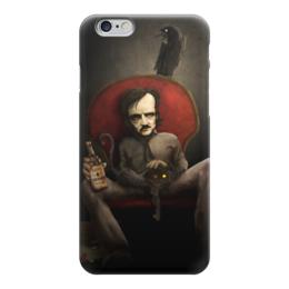 """Чехол для iPhone 6 """"Эдгар По"""" - череп, готика, смерть, литература, эдгар по"""