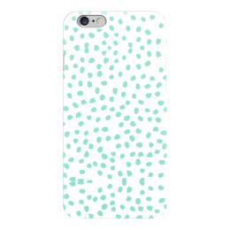 """Чехол для iPhone 6 """"Мятный Лео """" - салатовый, белый"""