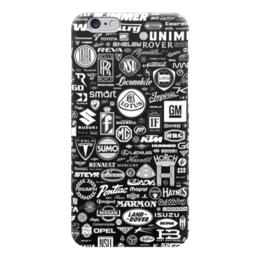 """Чехол для iPhone 6 """"Стикер бомбинг из брендов"""" - коллаж, бренд, символ, brand, сборник, стикербомбинг"""