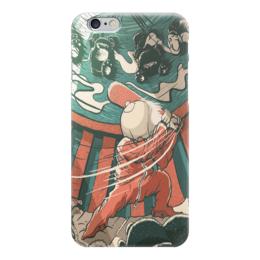 "Чехол для iPhone 6 ""baseball man"" - baseball, бейсбол, парень с битой"
