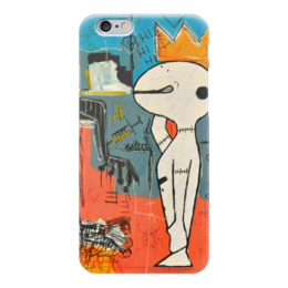"Чехол для iPhone 6 ""Basquiat"" - граффити, корона, snoopy, basquiat, жан-мишель баския"