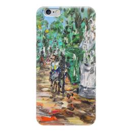 "Чехол для iPhone 6 ""Летний сад"" - питер, весна, красота, двое, статуи"