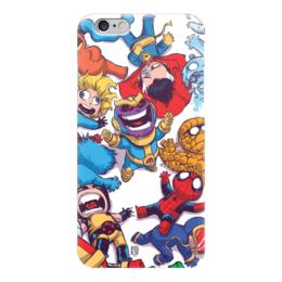 "Чехол для iPhone 6 ""Comics Art Series: Танос ликует"" - рисунок, супергерои, марвел, superhero, танос"