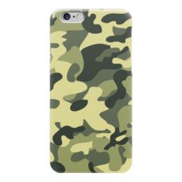 """Чехол для iPhone 6 глянцевый """"камуфляж"""" - 23 февраля, камуфляж, camo"""