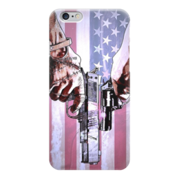"""Чехол для iPhone 6 """"American style"""" - usa, оружие, американский флаг, пистолеты"""