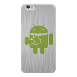 "Чехол для iPhone 6 ""Андроид кушает"" - арт, россия, star wars, логотип, андроид яблоко"
