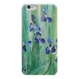 """Чехол для iPhone 6 глянцевый """"Ирисы"""" - весна, красота, iris, цветочки, любимые"""