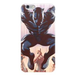 "Чехол для iPhone 6 ""Черная пантера"" - комиксы, пантера, марвел, black panther"