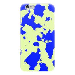 """Чехол для iPhone 6 """"Сине-Зелёный Камуфляж"""" - армия, камуфляж, camouflage, военный, сине зелёный камуфляж"""