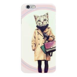 "Чехол для iPhone 6 ""Кошка "" - кошка, сумка, fashion, учеба"