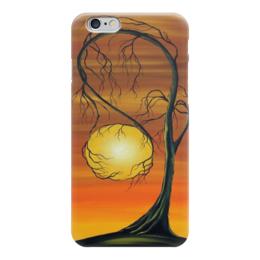 """Чехол для iPhone 6 глянцевый """"Закат в объятьях"""" - солнце, дерево, закат, природа, красота"""