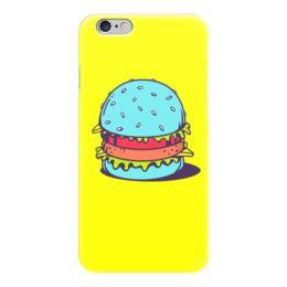 "Чехол для iPhone 6 глянцевый ""Голубой Бургер"" - burger, mcdonalds, фастфуд, арт, бургер"