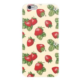 "Чехол для iPhone 6 ""Лето в банке"" - лето, еда, клубника, ягода, земляника"