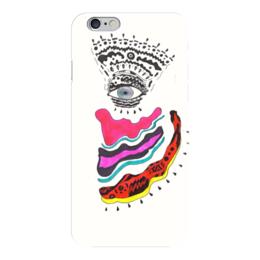 """Чехол для iPhone 6 глянцевый """"Mysterious eye"""" - арт, глаз, ярко, графика, тонкая работа"""