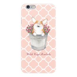 """Чехол для iPhone 6 """"Корги и розы"""" - цветы, собака, розы, собаки, корги"""