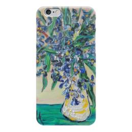 """Чехол для iPhone 6 глянцевый """"Ирисы"""" - счастье, подарок, цветочки, синие, ирисы"""