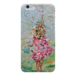 """Чехол для iPhone 6 """"Детство"""" - счастье, розовый, девочка, презент, мыльные пузыри"""