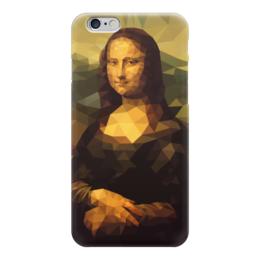 """Чехол для iPhone 6 глянцевый """"Мона Лиза (Mona Lisa)"""" - полигоны, polygons, мона лиза, mona lisa, джоконда"""