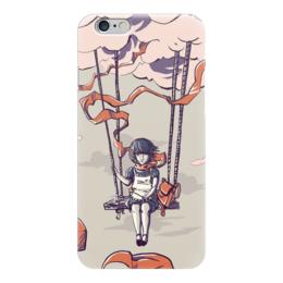 """Чехол для iPhone 6 """"Девочка на воздушном шаре"""" - девочка, воздушный шар"""