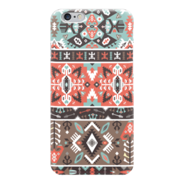 "Чехол для iPhone 6 ""Seamless bright pattern in tribal style"" - tribal, ethnic, native, aztec, navajo"