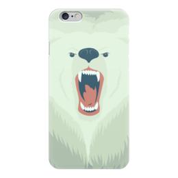 """Чехол для iPhone 6 """"Медведь"""" - bear, медведь, оскал"""