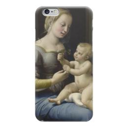 """Чехол для iPhone 6 """"Мадонна с гвоздиками"""" - картина, рафаэль"""