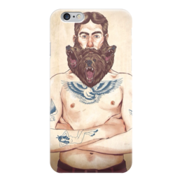 "Чехол для iPhone 6 ""Борода"" - bear, медведь, иллюстрация, борода, beard"