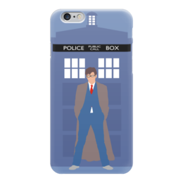 "Чехол для iPhone 6 глянцевый ""Доктор Кто и ТАРДИС / Doctor Who & TARDIS"" - доктор кто, дэвид теннант, тардис, десятый доктор"