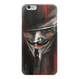 "Чехол для iPhone 6 ""V for Vendetta"" - комиксы, dc comics, гай фокс, вендетта, vertigo"