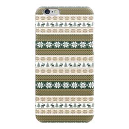 """Чехол для iPhone 6 """"Скандинавский узор"""" - узор, зима, орнамент, олень, снежинка"""