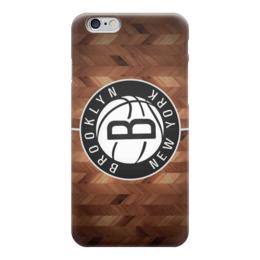 "Чехол для iPhone 6 глянцевый "" Бруклин Нетс (Brooklyn Nets)"" - баскетбол, nba, бруклин нетс, brooklyn nets, nets"