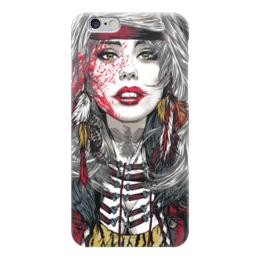 """Чехол для iPhone 6 """"Вождь"""" - девушка, иллюстрация, вождь"""