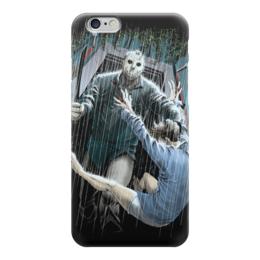 "Чехол для iPhone 6 ""Джейсон"" - ужасы, пятница 13, джейсон"