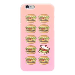 """Чехол для iPhone 6 """"Бургер - Сэндвич"""" - гамбургер, бургер, burger, сэндвич, hamburger"""