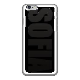 """Чехол для iPhone 6 глянцевый """"с именем София"""" - чехол с именем софия, чехол с именем, софия"""