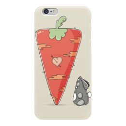 """Чехол для iPhone 6 """"Любовь - морковь)"""" - сердце, любовь, заяц, морковь"""