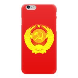 """Чехол для iPhone 6 """"Советский Союз"""" - ссср, герб ссср, с гербом, с советским гербом"""