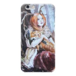 "Чехол для iPhone 6 ""Лисы осени"" - девушка, осень, лес, лиса, фентези"