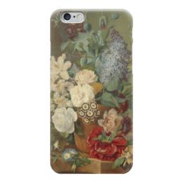 """Чехол для iPhone 6 """"Цветы в терракотовой вазе"""" - картина, бранд"""