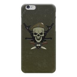 """Чехол для iPhone 6 глянцевый """"ВВ!!!"""" - вв, оливковый берет, внутренние войска, сила, нож"""