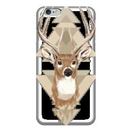 """Чехол для iPhone 6 глянцевый """"Олень"""" - олень, рога, иллюстрация, deer"""